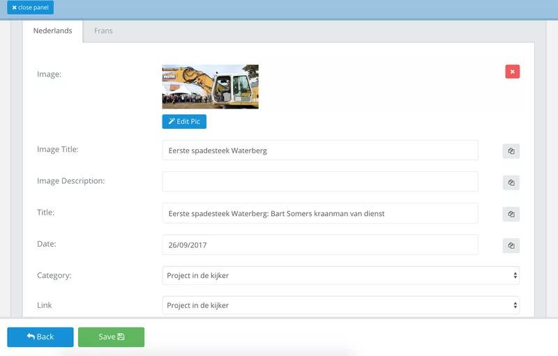 Sitemanager CMS Blogbeheer - wijziging publicatie datum