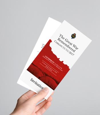 Grafisch ontwerp uitnodiging event door Easybranding in Kortrijk