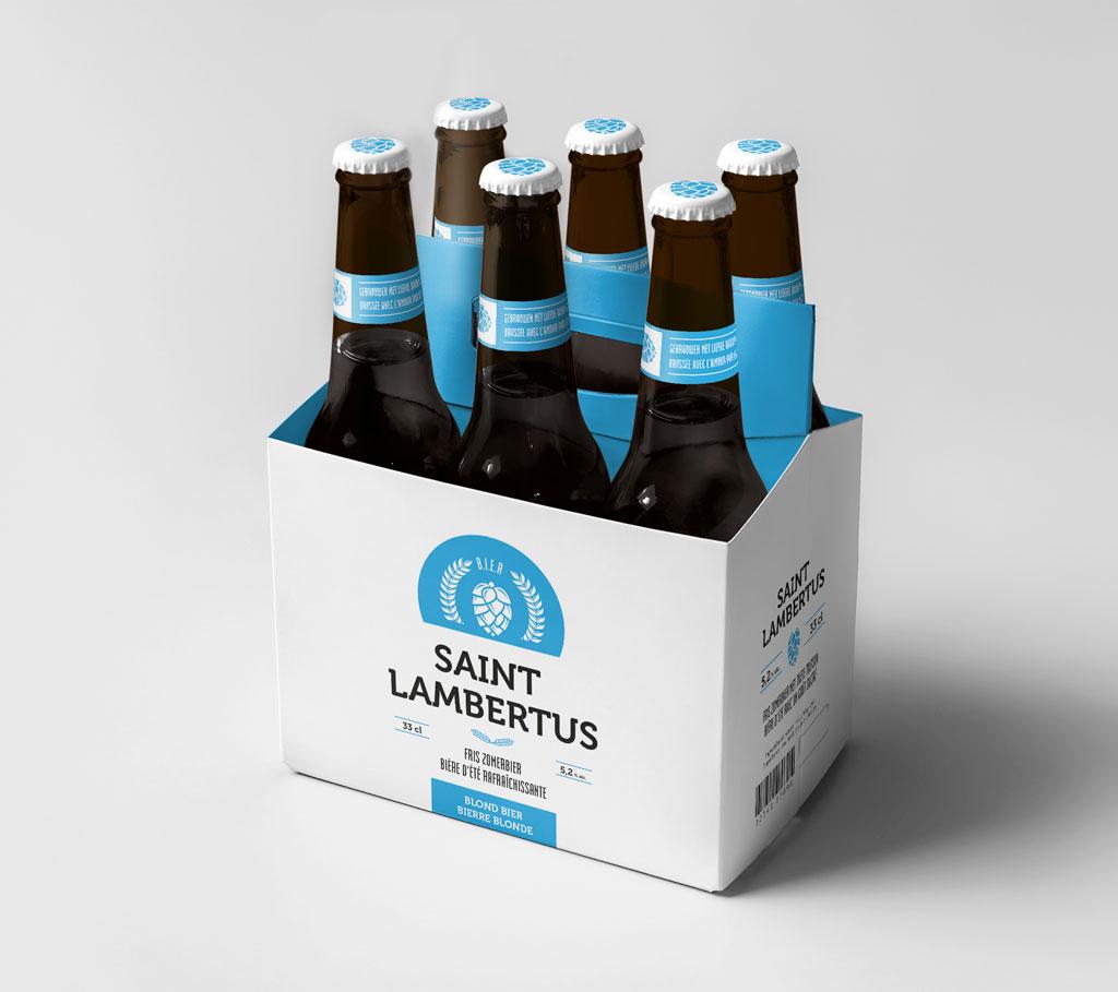 Grafisch ontwerp label bier door Easybranding in Kortrijk