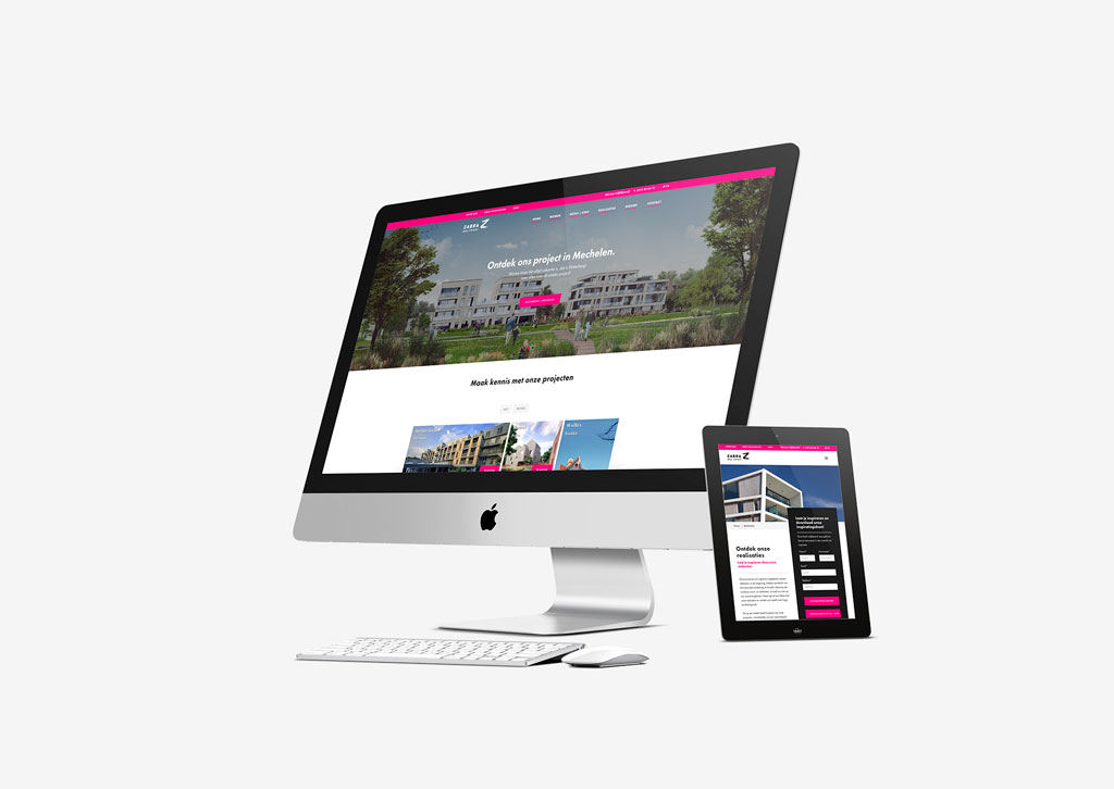 Website ontwerp projectontwikkelaar door Easybranding in Kortrijk