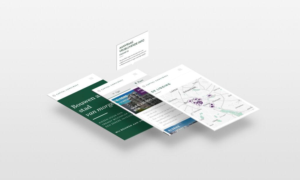 Mobiele website Capital Construct