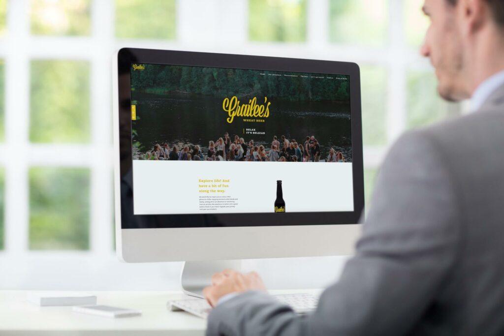 Webdesign voor biermerk Grailee's
