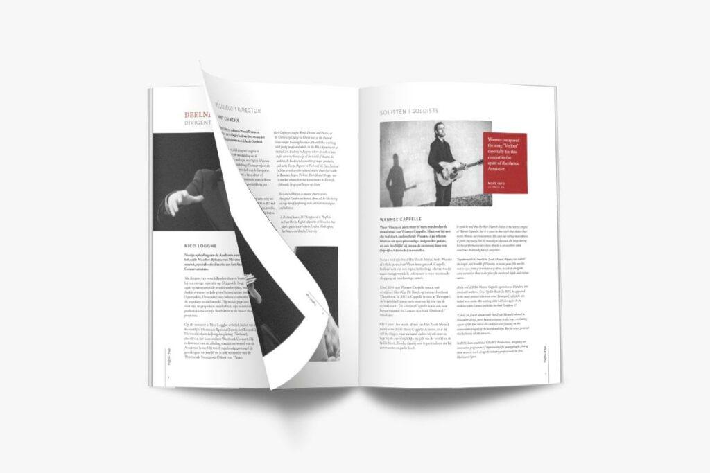 Opmaak van het programmaboekje voor het Remembrance Concert van Last Post