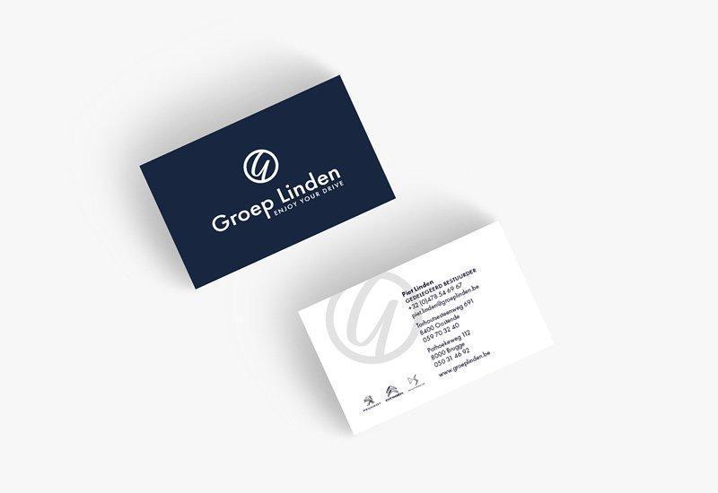 Opmaak visitekaartje Groep Linden