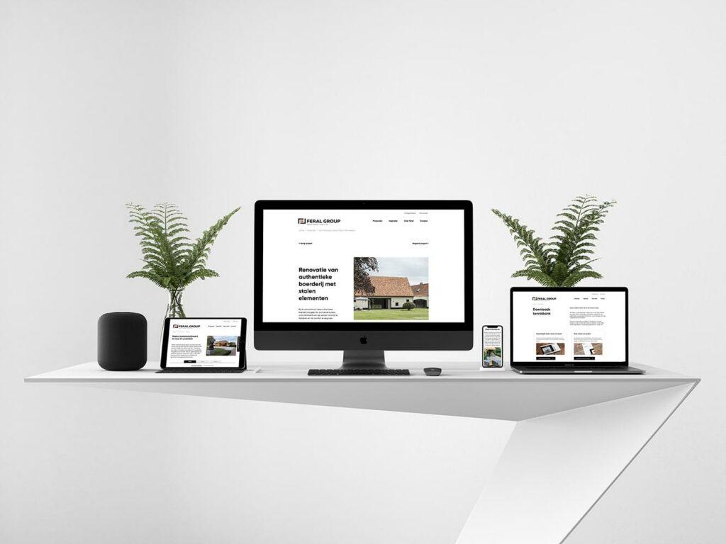 Laat je website ontwerpen en developen door ons grafisch bureau.