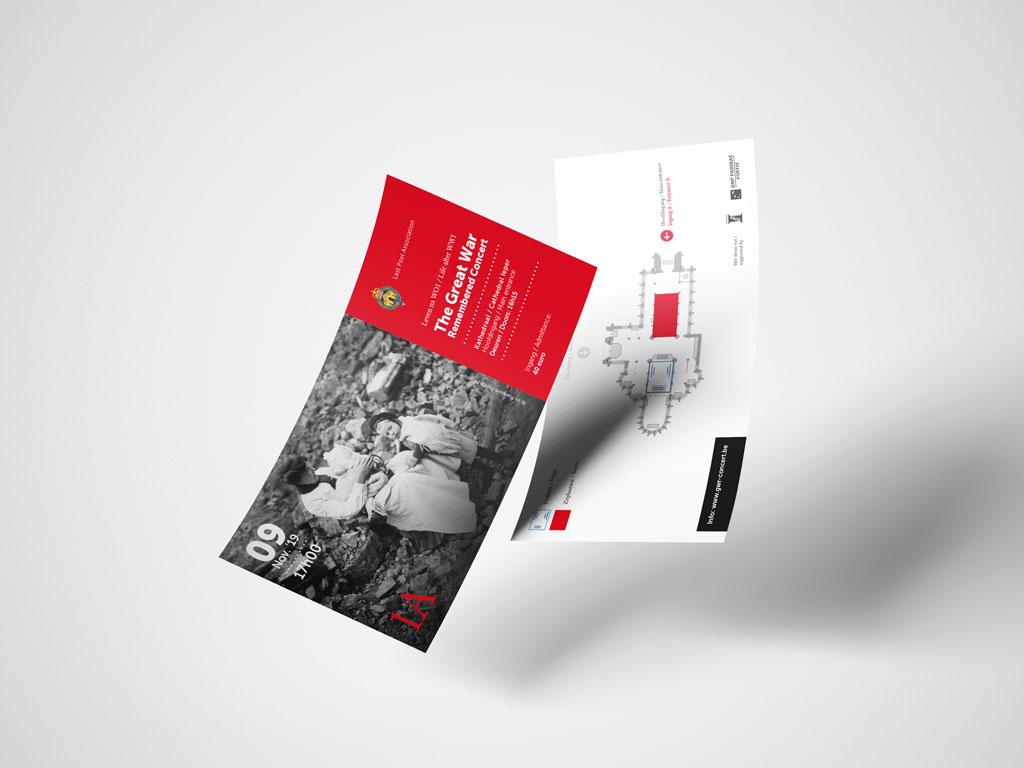 Grafisch ontwerp tickets concert door Easybranding