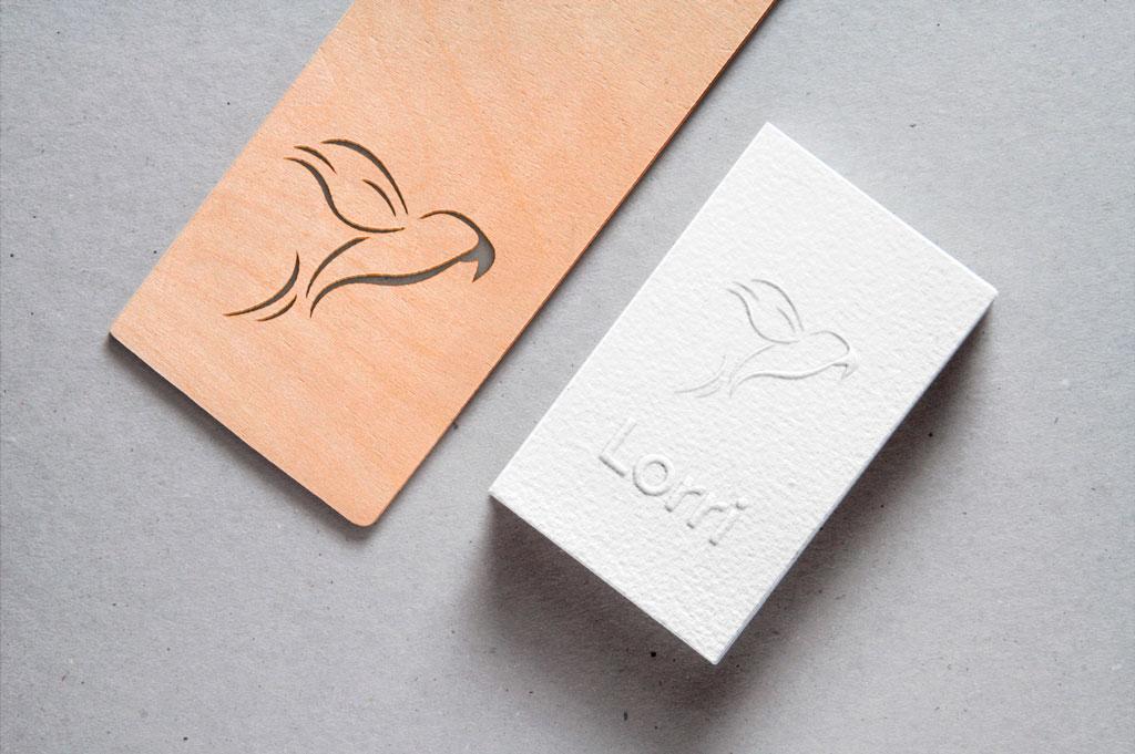 Cut-out logo rebranding door Easybranding