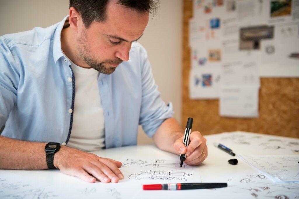 Begeleiding corporate shoot van bedrijfsgebouwen in Kortrijk