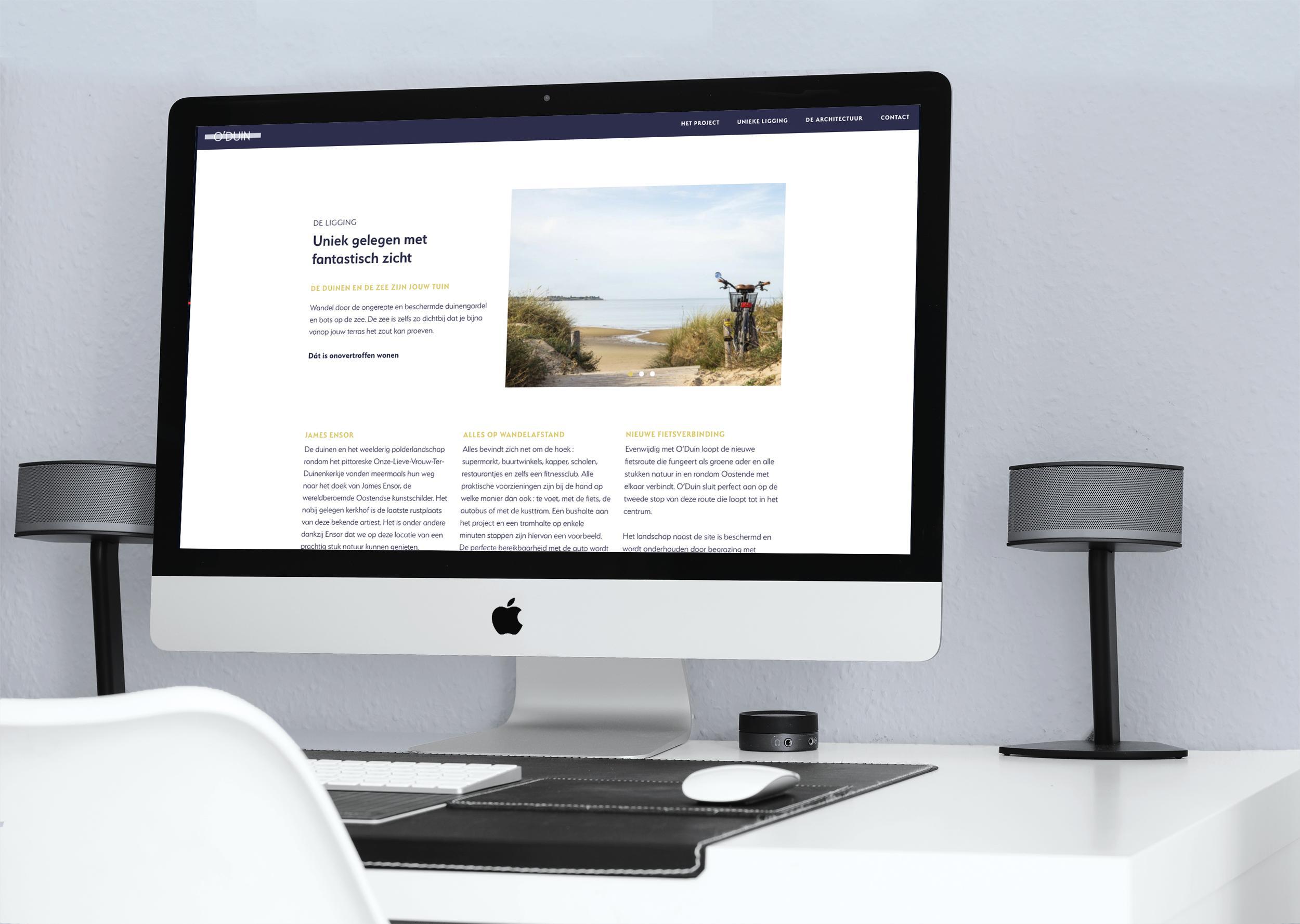 Ontwerp van website en webdevelopment door grafisch bureau Easybranding uit Kortrijk