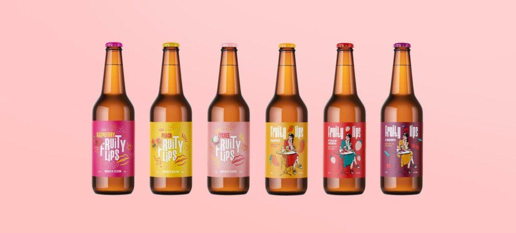Easybranding ontwierp 6 verschillende bierlabels voor de zomerse bierlijn van The Brew Society