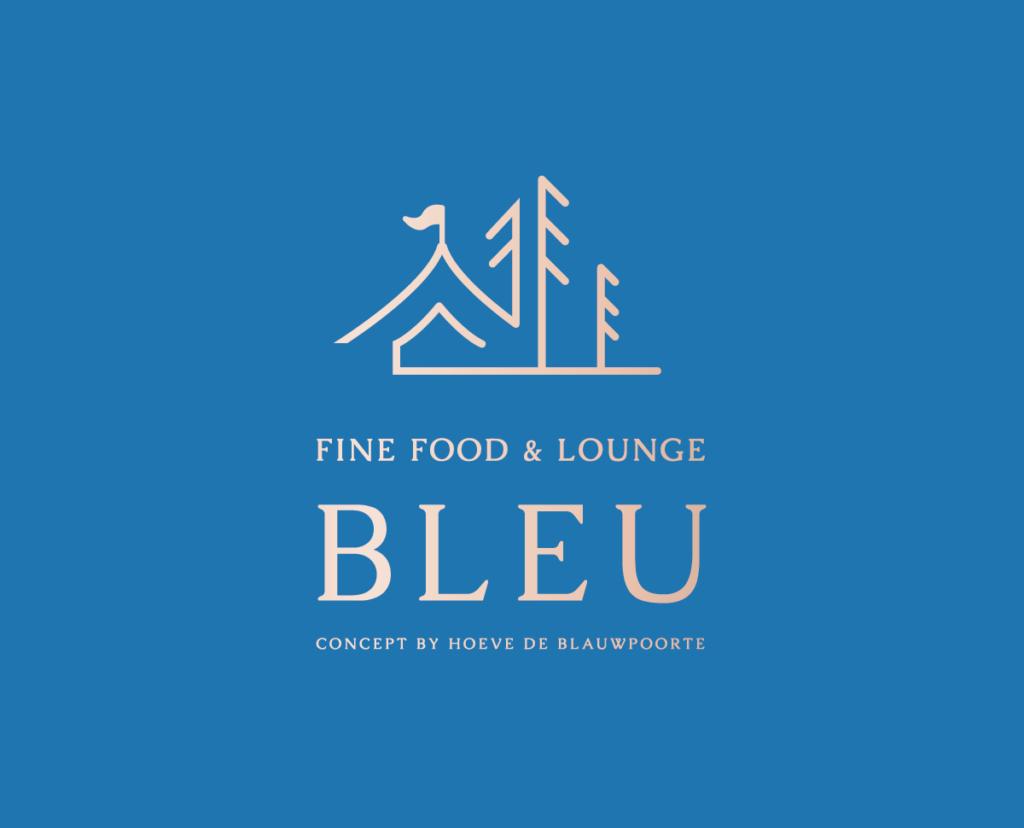 Logo en branding van Bleu Kortrijk