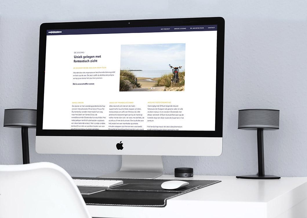 Website door grafisch bureau Easybranding uit Kortrijk