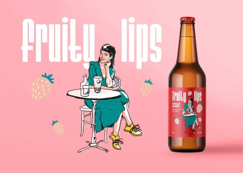 Illustratie en bierlabel ontworpen door Easybranding voor The Brew Society