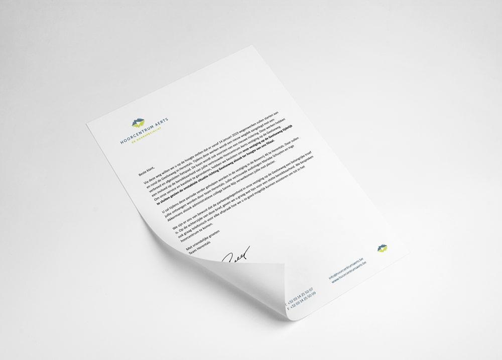 Laat je briefpapier ontwerpen en drukken door ons grafisch bureau.