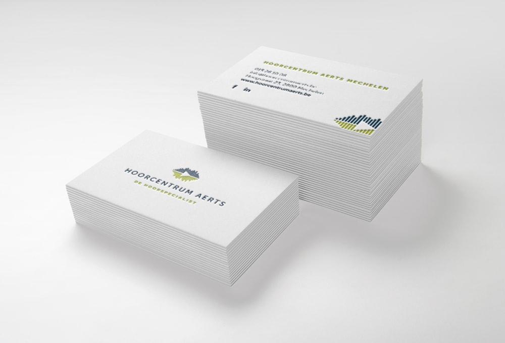 Opmaak en drukwerk van visitekaartjes met diepdruk