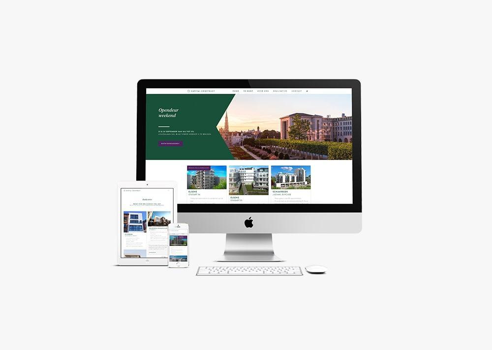 Opbouw professionele website door grafisch bureau Easybranding