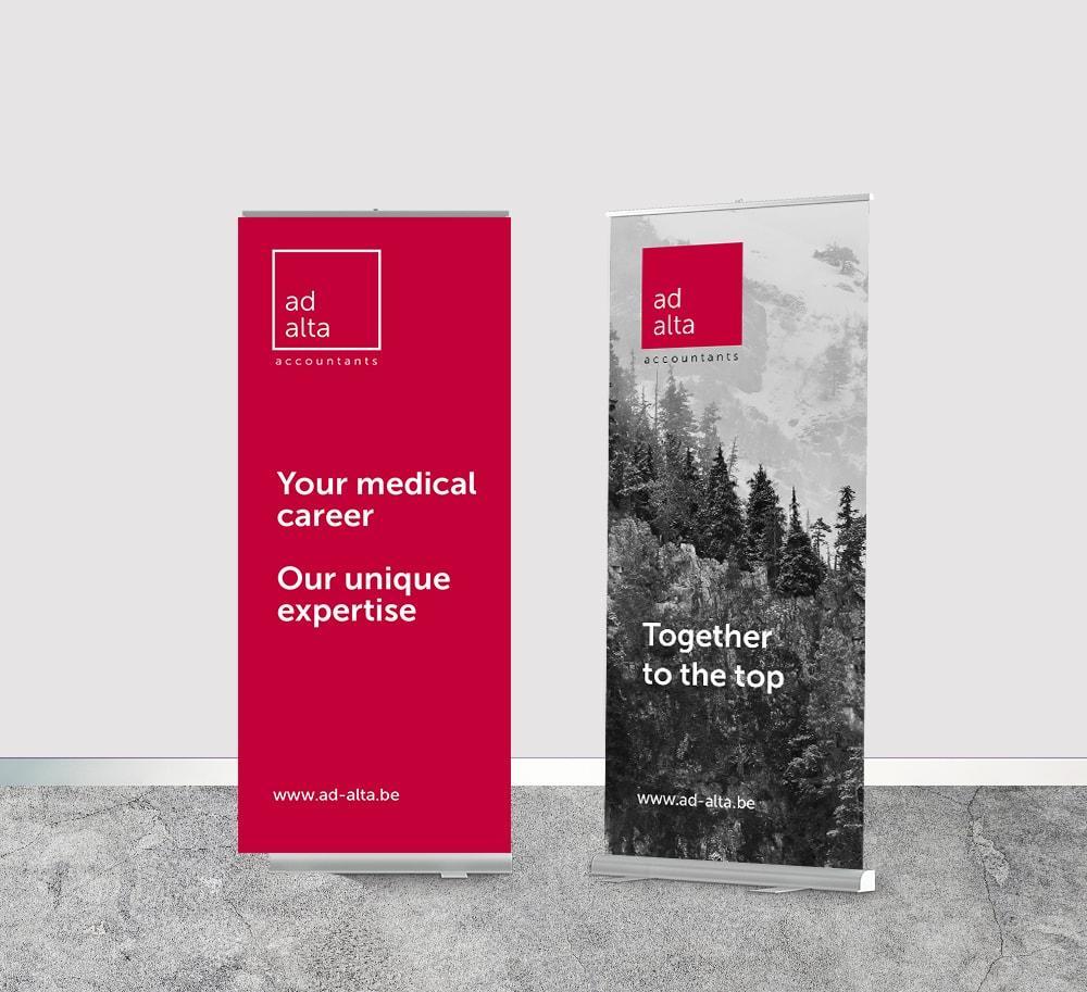 Grafisch ontwerp roll up banners voor beurzen door Easybranding
