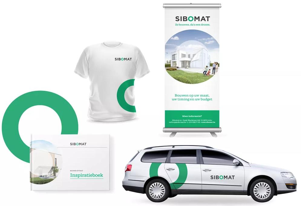 Multi-channel corporate branding van Sibomat