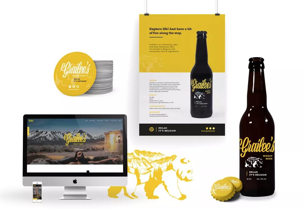 "Product branding met hoog belevingsgehalte: nieuw biermerk Grailee's met leuke slogan ""relax it's Belgian"""