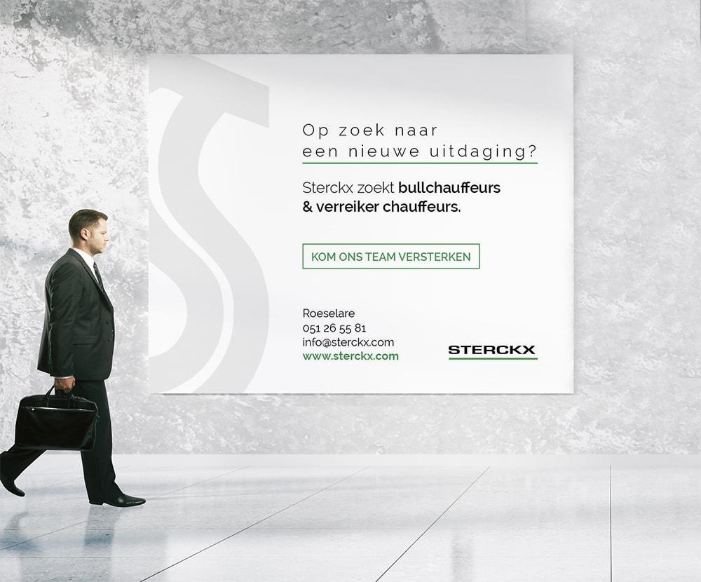 Grafische vormgeving spandoek door communicatiebureau Easybranding
