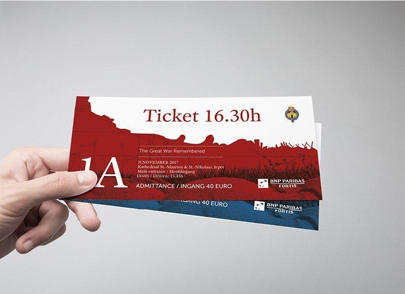 Ontwerp en drukwerk van tickets voor Last Post Association