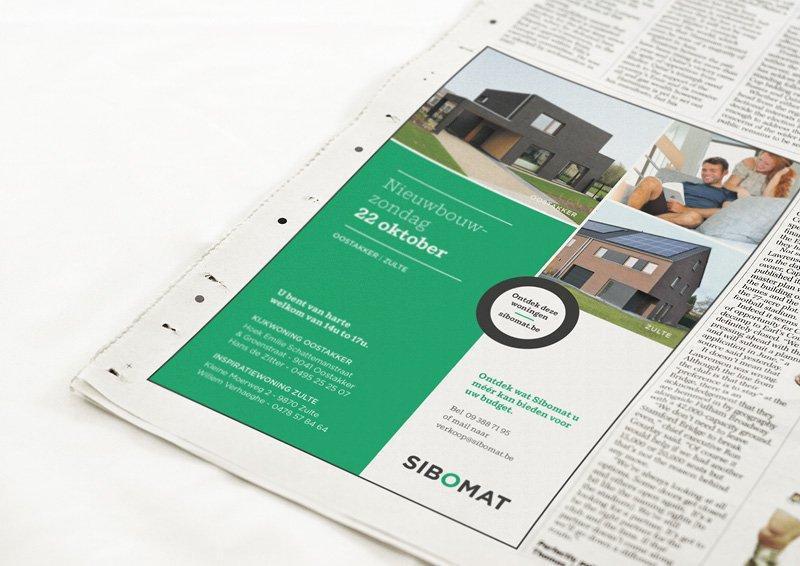Grafische ondersteuning advertenties binnen huisstijl door Easybranding