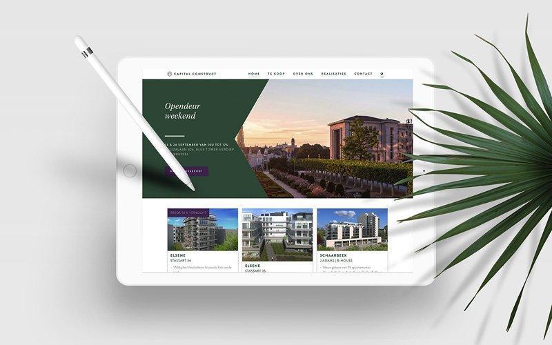 Website design door grafisch bureau Easybranding voor projectontwikkelaar Capital Construct