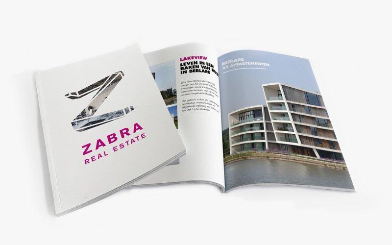 Opmaak van brochure voor projectontwikkelaar Zabra Real Estate