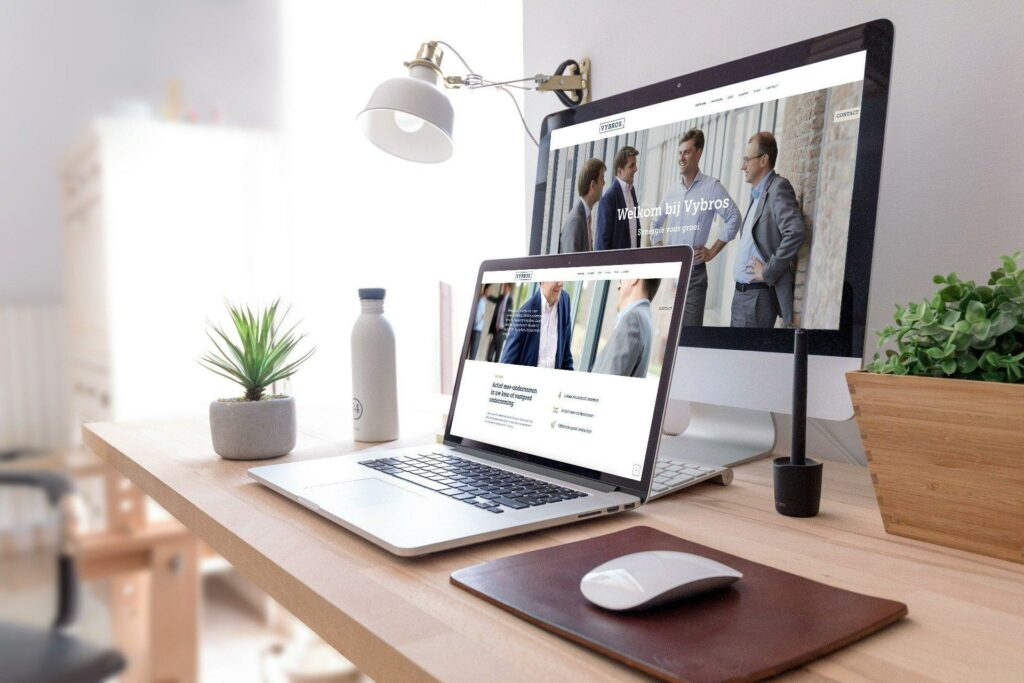 Website laten ontwerpen door grafisch bureau voor Vybros