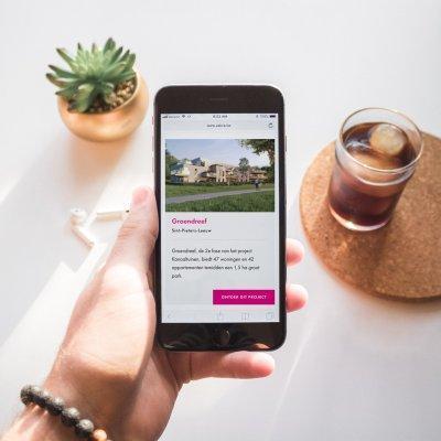 Mobiele website voor projectontwikkelaar door grafisch bureau Easybranding