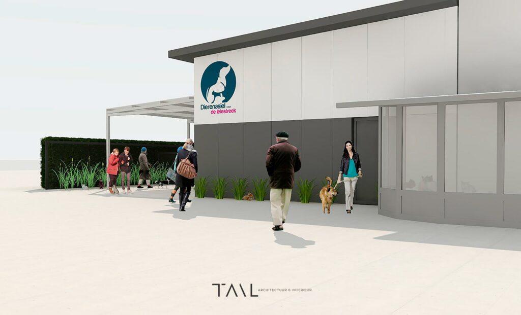Na de vernieuwing van het dierenasiel, werd grafisch bureau Easybranding ingeschakeld voor het ontwerp en uitwerking van de signalisatie in het asiel.