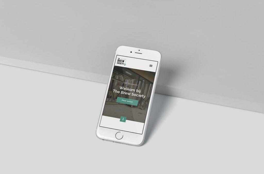 Mobiele website ontwerp door all-round creatief bureau Easybranding uit Kortrijk