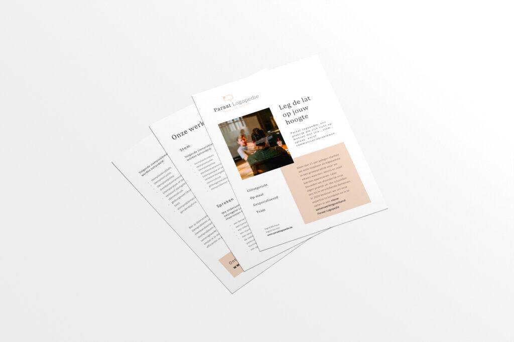 Grafisch ontwerp flyer door grafisch bureau Easybranding in Kortrijk