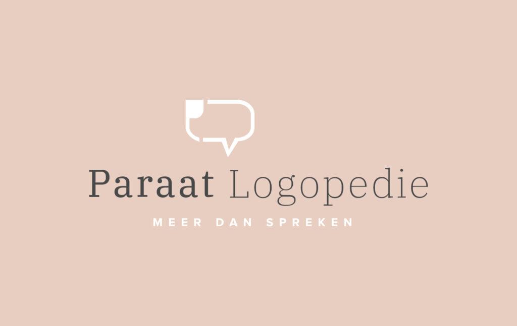 Logo en branding Paraat Logopedie door grafisch bureau in Kortrijk