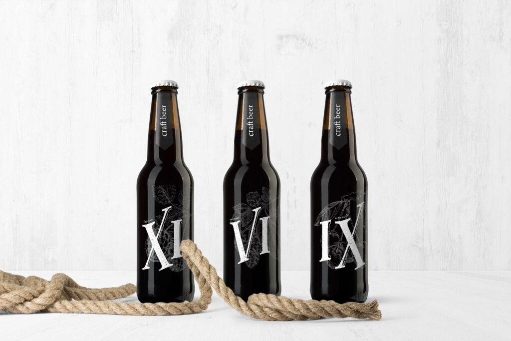 Ontwerp van bierlabel door grafisch bureau Easybranding uit Kortrijk