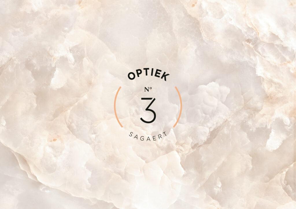 Ontwerp van logo voor Optiekzaak Optiek 3 - Bruno Sagaert door all-round communicatiebureau Easybranding in Kortrijk