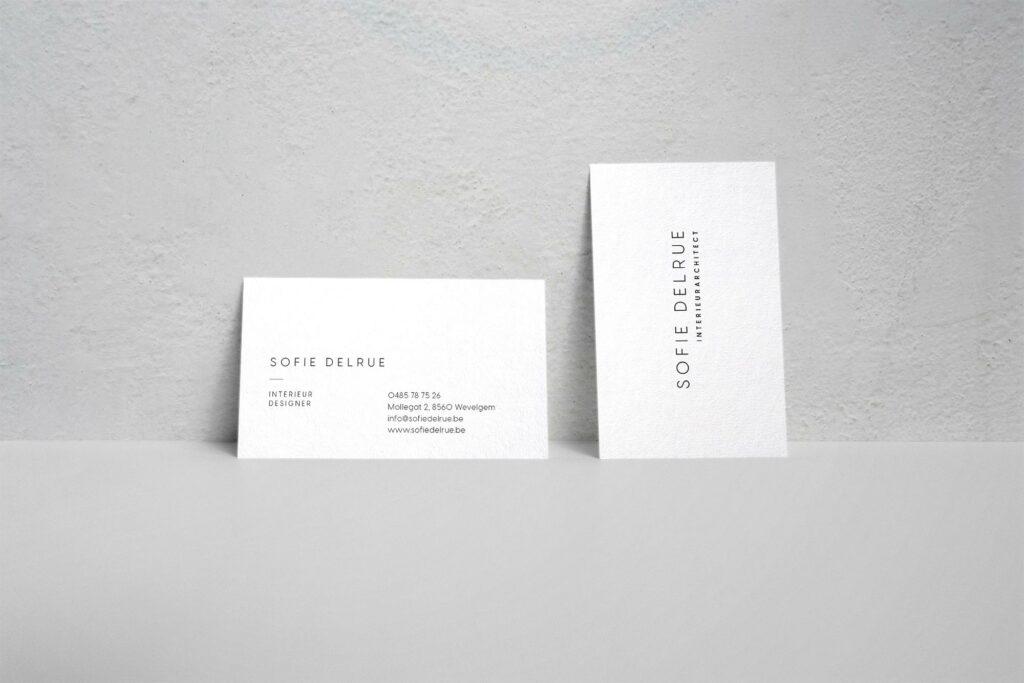 Ontwerp van visitekaartje architect grafisch ontwerpbureau Easybranding