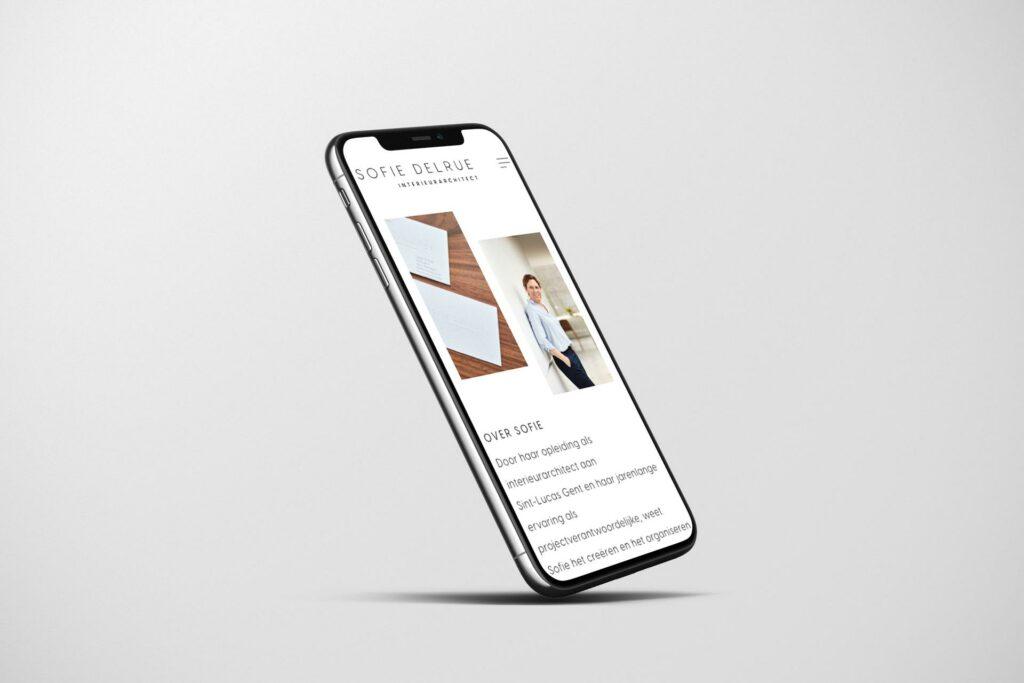 Website architect door grafisch ontwerpbureau Easybranding uit Kortrijk