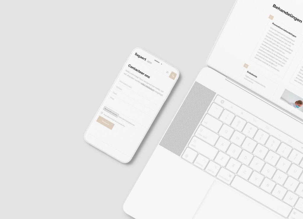 Responsive webdesign van website voor tandartsenpraktijk Sagaert door Easybranding