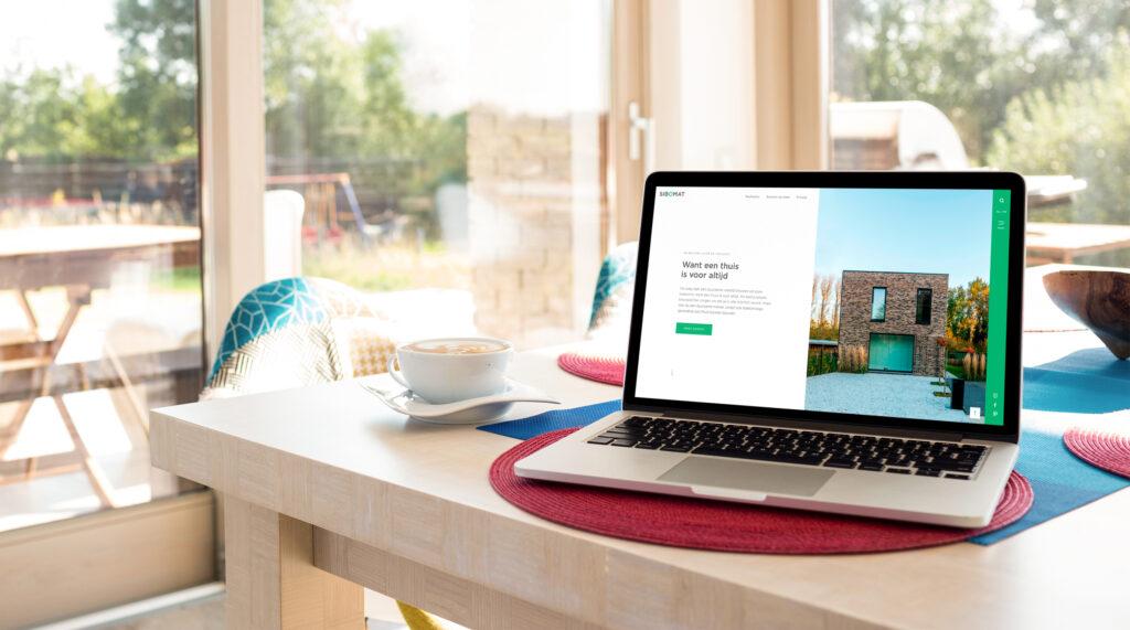 UX design voor nieuwe website voor Sibomat door Easybranding
