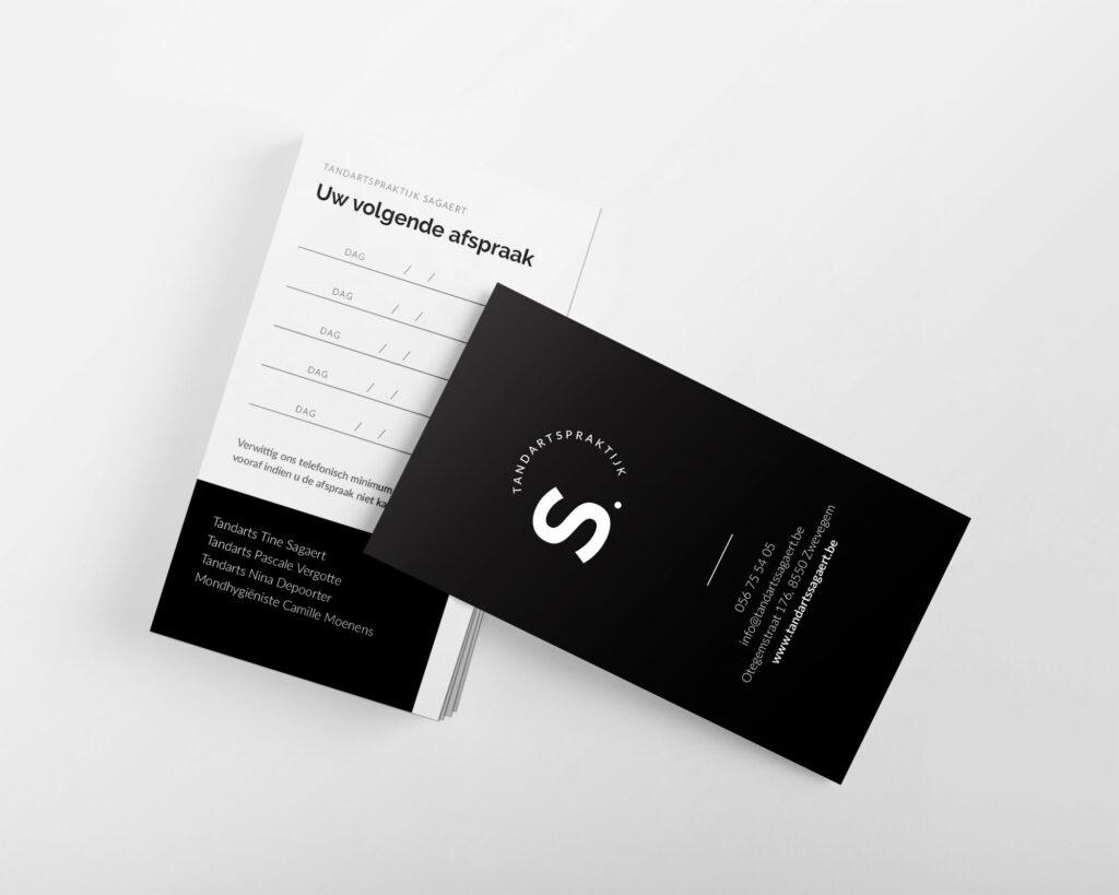 Afspraakkaartje ontwerp voor tandartsen door Easybranding