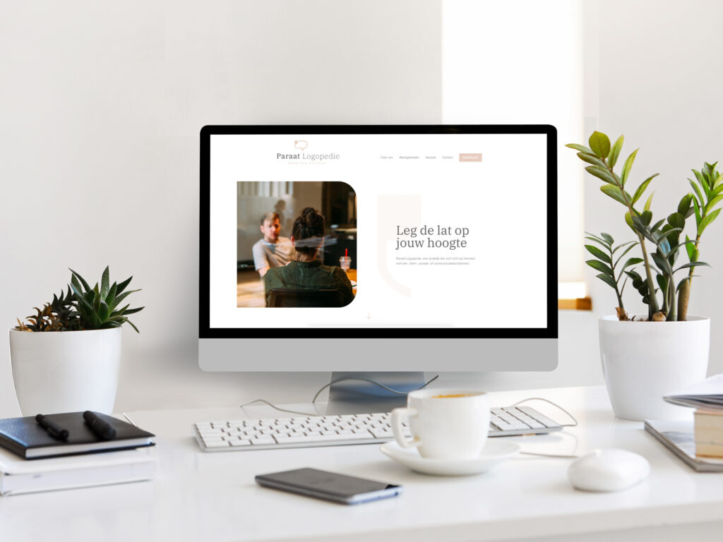 Website ontwerp voor Paraat logopedie door Easybranding