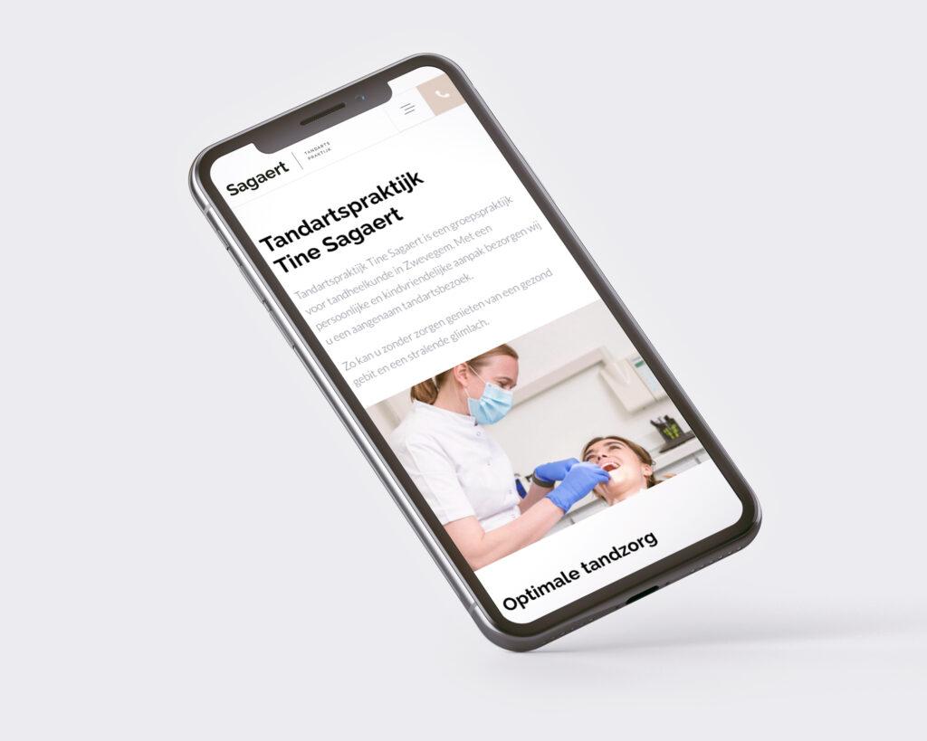 Website ontwerp voor tandartsenpraktijk Sagaert uit Heule door Easybranding