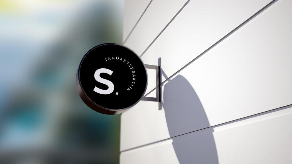 Logo ontwerp voor tandartsenpraktijk Sagaert door Easybranding